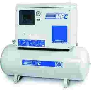 Compresor de aire silencioso, 2 cilindros, trifásico, 7'5 CV y 500 litros de calderin Compresseur air silencieux, 2 cylindres, triphasé, 500cv 7,5 litresCompressore Aria Silenzioso 7'5 Cv E 500LCompresor de aire silencioso, 2 cilindros, trifásico, 7'5 CV y 300 litros de calderin