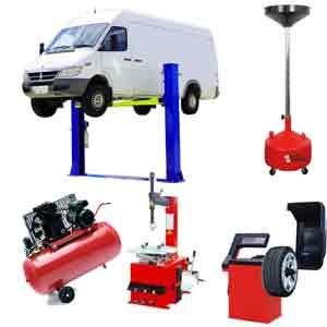 Elevador, desmontadora, equilibradora, compresor y recogedor aceite